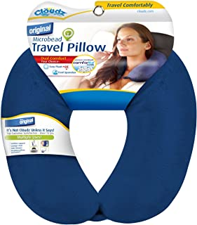 Cloudz Dual Comfort Microbead Travel Neck Pillow – Blue