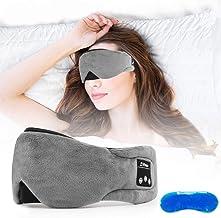 Number-one Wireless Sleep Mask Headphones Bluetooth 5.0 Sleeping Eye Mask with Gel Sleep Mask for Cool/Warm Therapy, USB R...