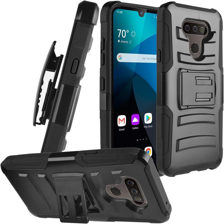 CELZEN - for LG Harmony 4, Xpression Plus 3, LG Premier Pro Plus - Phone Case w/Belt Clip Holster - CV1 Black