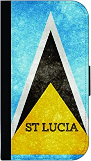 St. Lucia Grunge Flag - Passport Protector Case Cover/Card Holder for Travel
