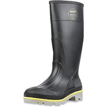 "Servus XTP 15"" PVC Chemical-Resistant Steel Toe Men's Work Boots, Black, Yellow &"