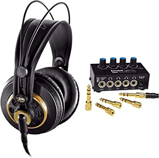 AKG K240 Studio Semi-Open Over-Ear Professional Studio Headphones with Knox Gear Headphone Amplifier