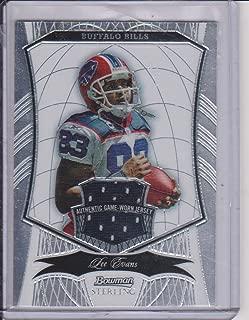 2009 Bowman Sterling Lee Evans Bills 498/719 Game Used Jersey Football Card #83
