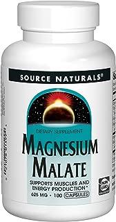 Source Naturals Magnesium Malate, 625mg, 100 Capsules