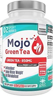 MOJO™ GREEN TEA - Extract Capsules | Natural Appetite Suppressant For Weight Loss | Antioxidant Supplement | Gentle Caffei...