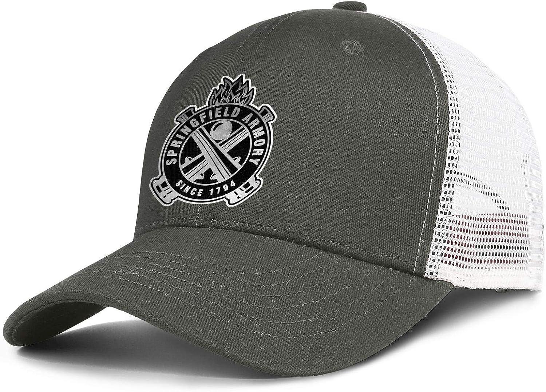 Mens Womens Fashion Baseball Caps Adjustable Trucker Dad Hats Springfield-Armory-Logo- Bucket Hats