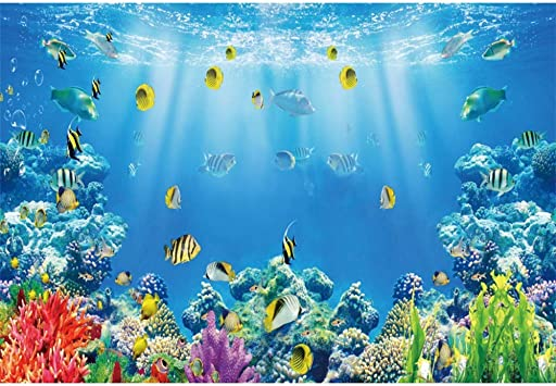 10x8ft Abstract Underwater City Backdrop Marine Theme Polyester Photography Background Creative Water City View Sun Light Beam Children Adults Artistic Photo Aquarium Diving Decoration Banner