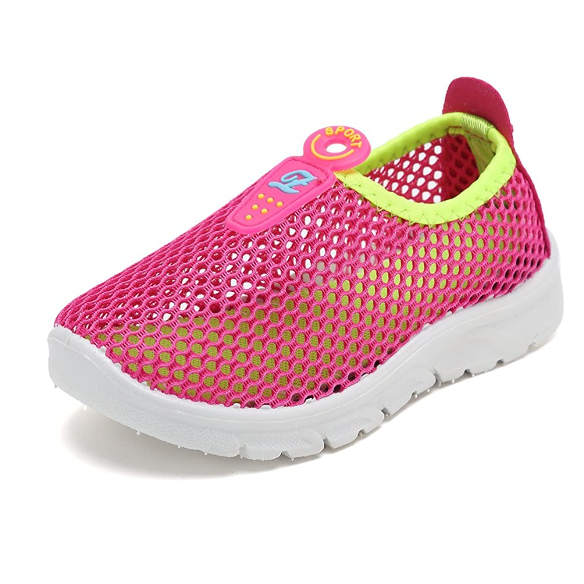 CIOR Toddler Kids Water Shoes Breathable Mesh Running Sneakers Sandals for Boys Girls Running Pool Beach,U118STWX002,Pink,32