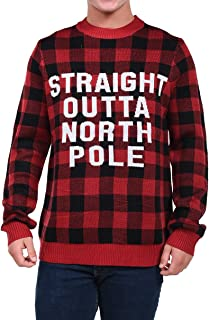 Men's Straight Outta North Pole Christmas Sweater - Funny Ugly Christmas Sweater