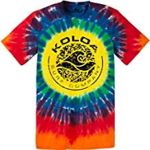 Koloa Surf Co. Sunshine Tie-Dye Circle Logo T-Shirts in Adult Sizes: S-4XL