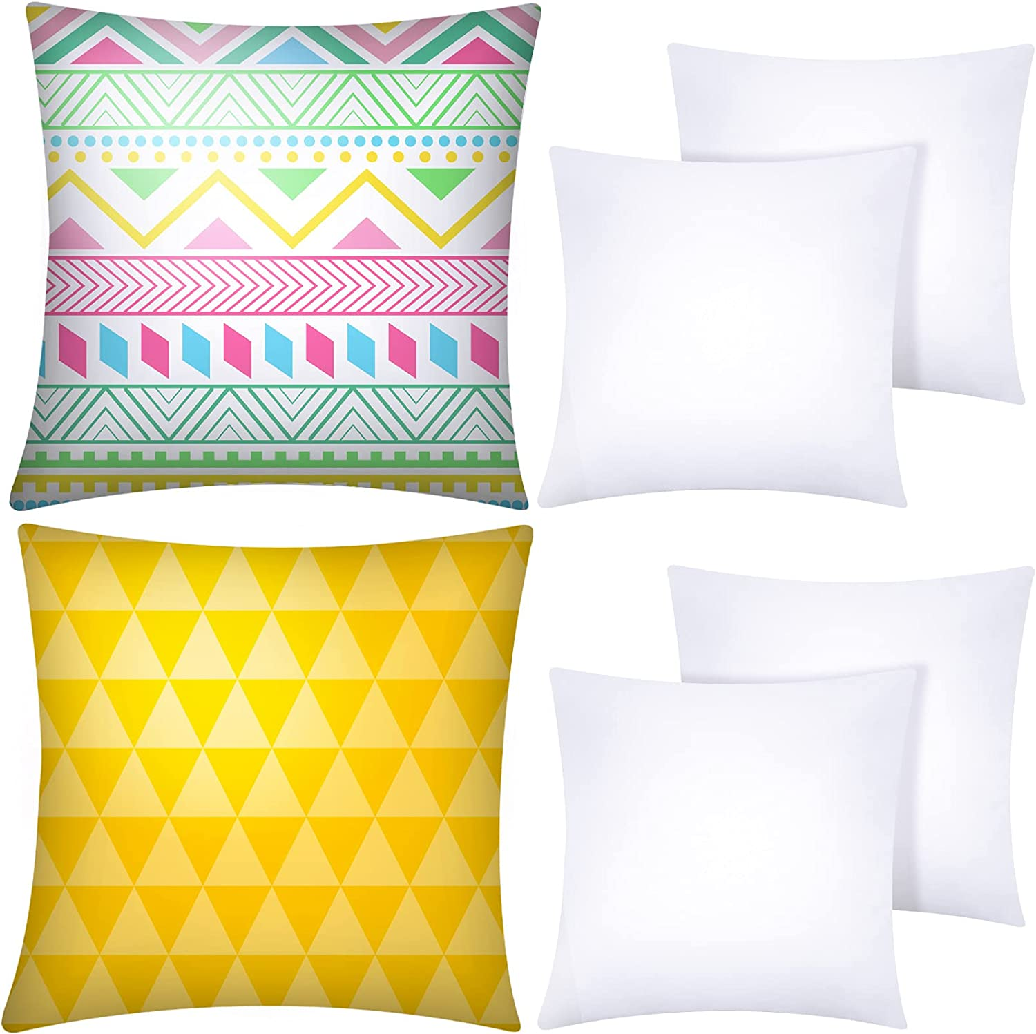 Aneco 6 Finally resale start Pack Sublimation Pillow Super Special SALE held White Covers Blank Cushion Cases