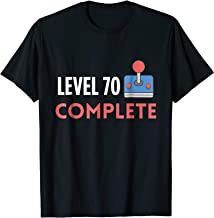 Level 70 Complete 70th Birthday Funny Video Gamer T-Shirt