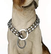 Loveshine Stainless Steel Dog Collar, 15mm Fancy Slip Chain - Best for Large Dogs: Pitbull, Doberman, Bulldog