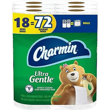 Charmin Ultra Gentle Toilet Paper, 18 Mega Rolls = 72 Regular Rolls