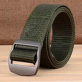 YAOLUU Cinturón de Tela Deportivo al Aire Libre Cinturón de Tela Casual para Hombres Cinturón de Tela Juvenil con Hebilla ...