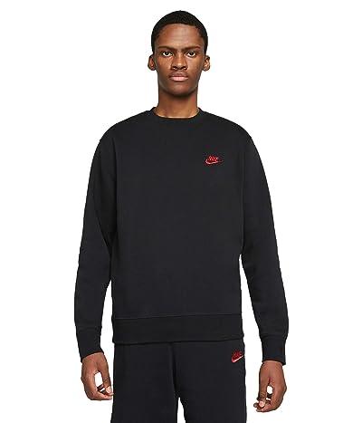 Nike NSW Club Crew (Black/University Red) Men