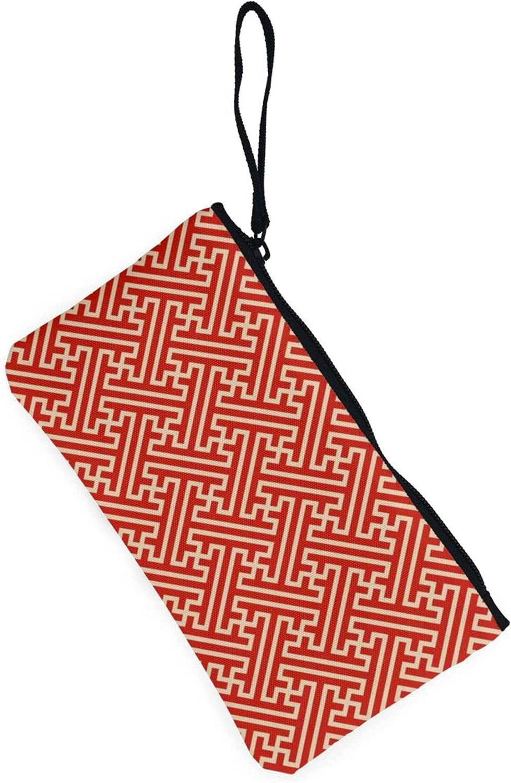 AORRUAM Japanese pattern Saaya Canvas Coin Purse,Canvas Zipper Pencil Cases,Canvas Change Purse Pouch Mini Wallet Coin Bag