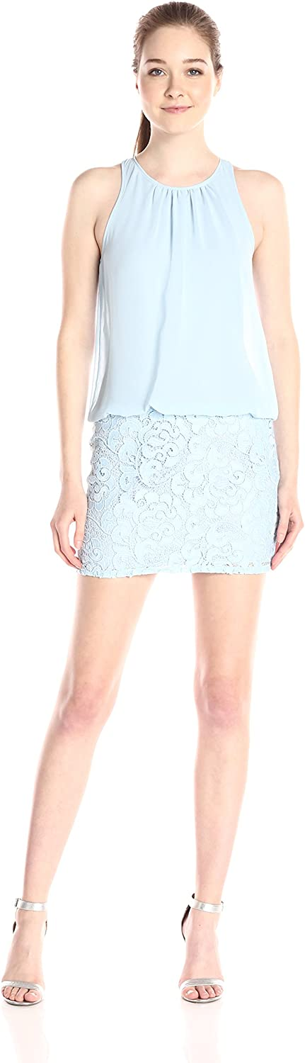 Aidan Mattox Aidan Women's Sleeveless Cutaway Halter Blouson Cocktail Dress