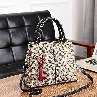 LIMING Middle-aged women's bag fashion large-capacity hand bag shoulder slung mother bag tide atmosphere wild black -GD-,C...