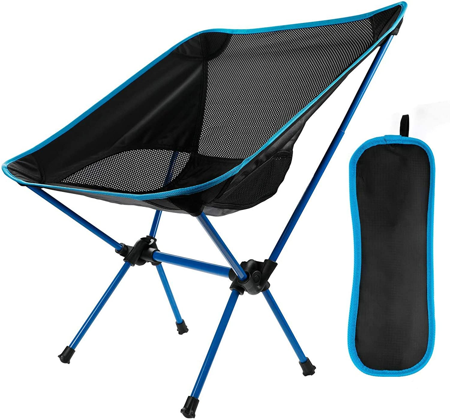 UltraLight Portable Folding Camping Chair with Tote, Barbecue, Picnic, Beach, Outdoor, Maximum Load 150 kg