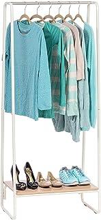 Iris Ohyama - Portant penderie à vêtements / Porte-manteaux avec étagère en bois MDF et métal - Garment Rack PI-B1 - Chêne...