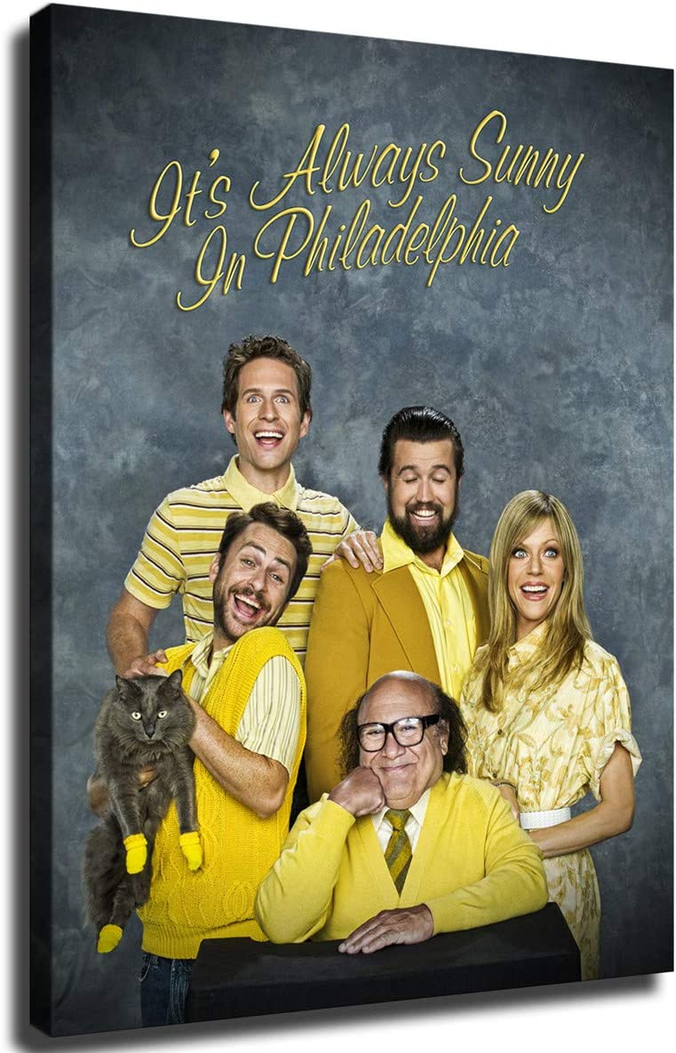 MIKE 春の新作続々 日本限定 Its Always Sunny in Ho Painting Picture Poster Philadelphia