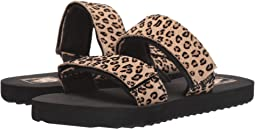 (Mini Leopard) Suede/Black