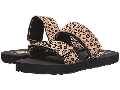 Vans Cayucas Slide ((Mini Leopard) Suede/Black) Women