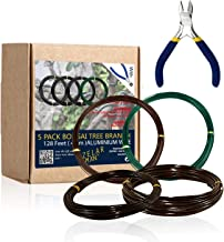 ZELARMAN Bonsai Training Wire Set of 4 - Total 128 Feet(32 Feet Each Size) 3 Size - 1.0MM,1.5MM,2.0MM - Corrosion and Rust Resistant (with Bonsai Wire Cutter)