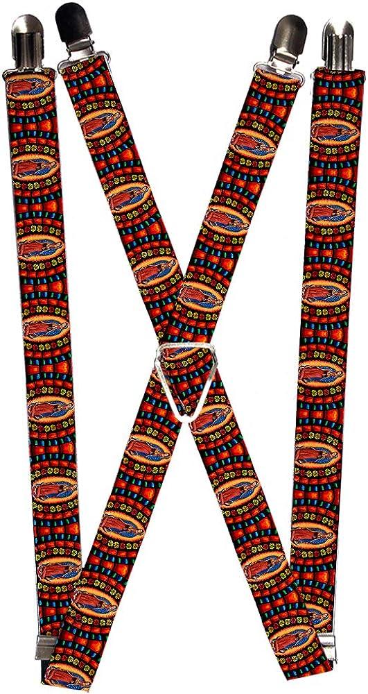 Buckle-Down Men's Suspender-Virgen de Guadalupe, Multicolor, One Size
