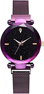 Acnos Purple Glass Black dial Magnetic Belt Purple Analog Watch for Men and Womne Pack of - 1