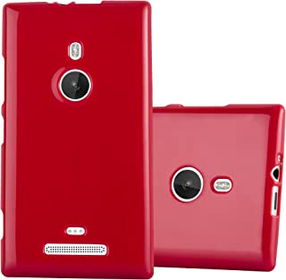 Cadorabo Case Works with Nokia Lumia 925 in Jelly RED – Shockproof and Scratch Resistant TPU Silicone Cover – Ultra Slim Protective Gel Shell Bumper Back Skin