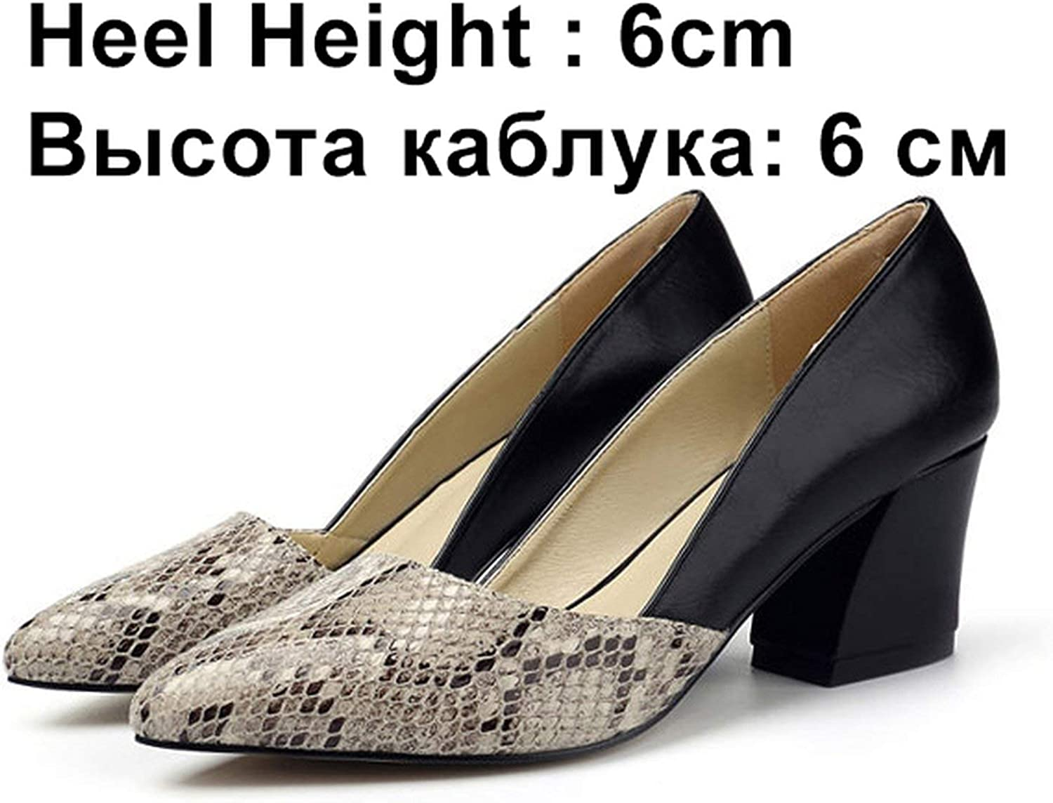 All-About-Us Women Pumps High Heels shoes Woman Spring Autumn Pointed Toe Ladies shoes Platform Soft Leather Sexy Office Wedding shoes Female