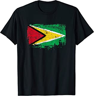 Guyana Flag Pride Gift Distressed Vintage Style T-Shirt
