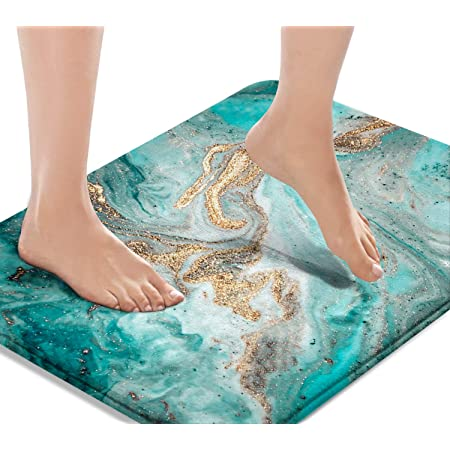 Flowers skulls Flannel Floor Rug Carpet Mat Bathroom Mat Non-slip Pad 40x60cm