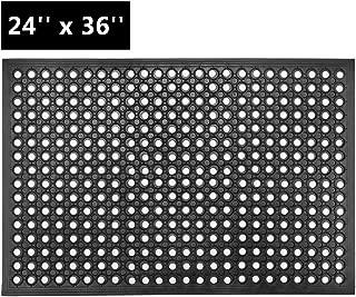 ROVSUN Rubber Floor Mat with Holes, 24''x 36'' Anti-Fatigue/Non-Slip Drainage Mat, for Industrial Kitchen Restaurant Bar Bathroom, Indoor/Outdoor Cushion (1)