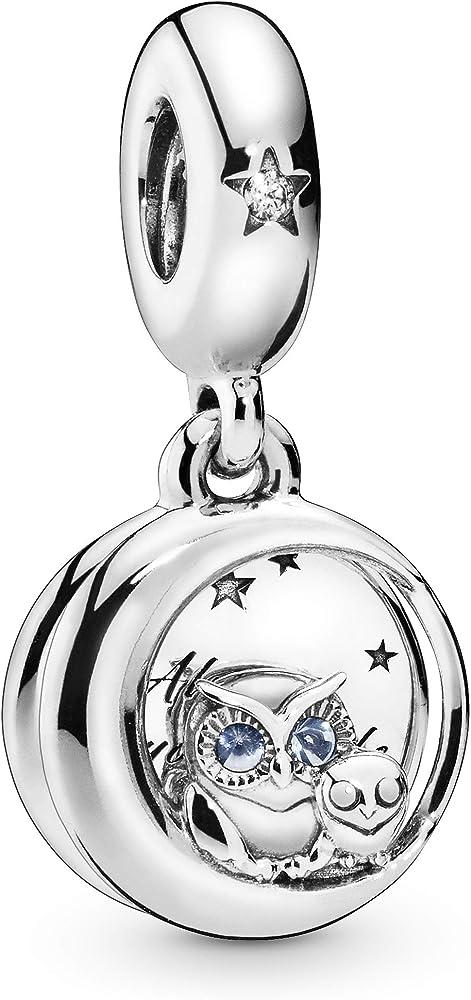 Pandora ciondolo charm da donna, in argento sterling 925 bangle 798398NBCB