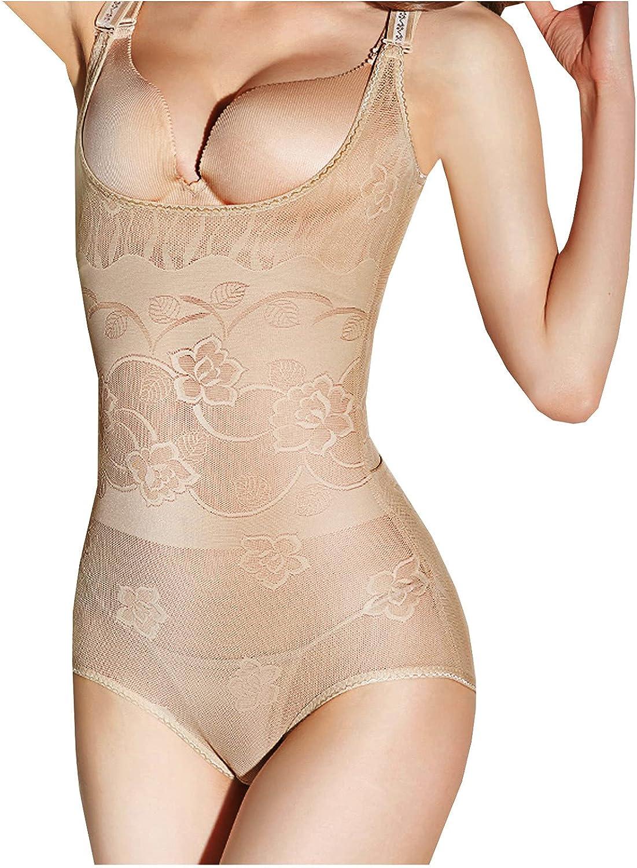 Womens Sexy Shapewear Underwear Corset, wodceeke V Neck Slim Bodysuit Body Shaper Vest Lingerie for Women Tight Pajama Set