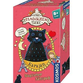 KOSMOS 698942 Die Schule der magischen Tiere - Magischer Nähspaß: Karajan, Nähset mit Filz, Garn, Nadel und Füllung. Für Mädchen und Jungen ab 8 Jahre, Nähen lernen für Kinder, Bastelset, DIY