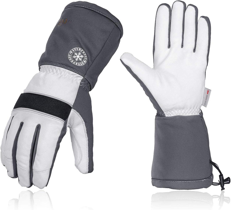 Vgo Leather Winter Ski Gloves Cold Storage Work Glovesn 3M Thinsulate (GA8435FW)