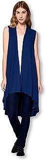 ReneeC....... Women's Extra Soft Natural Bamboo Sleeveless Long Cardigan - Made in USA