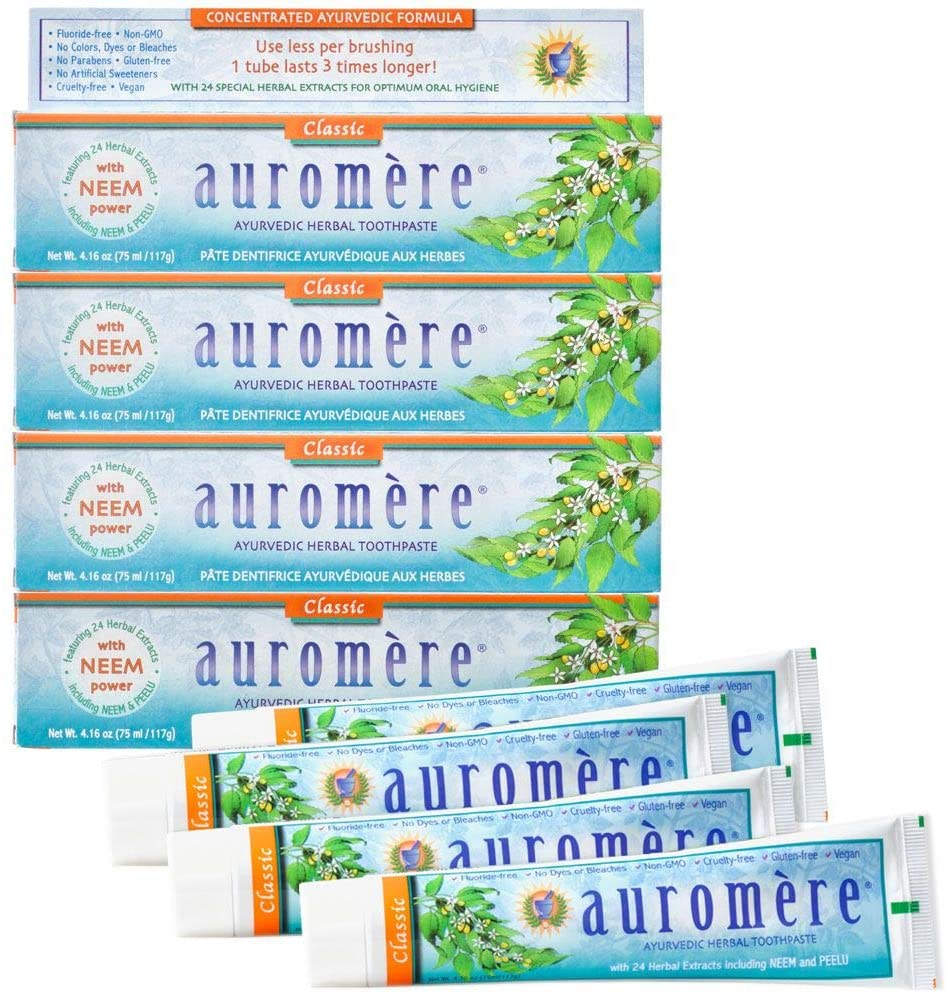Auromere Ayurvedic Herbal Toothpaste Classic Manufacturer regenerated product - Flavor Max 80% OFF Licorice