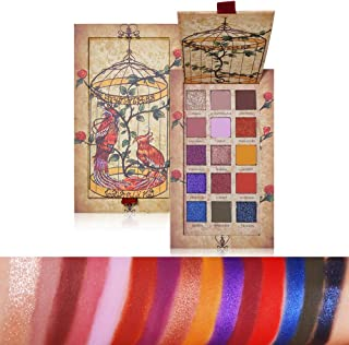 15 Colors Shimmer Matte Glitter Eyeshadow Makeup Palette Highly Pigmented Creamy Long Lasting Puple Blue Eye Shadow Pallet Set