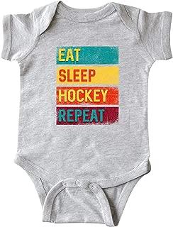 inktastic Ice Hockey Eat Sleep Hockey Repeat Infant Creeper