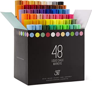 JumpOff Jo - 48 Pack Liquid Chalk Markers – Neon, Metallic, and White Included