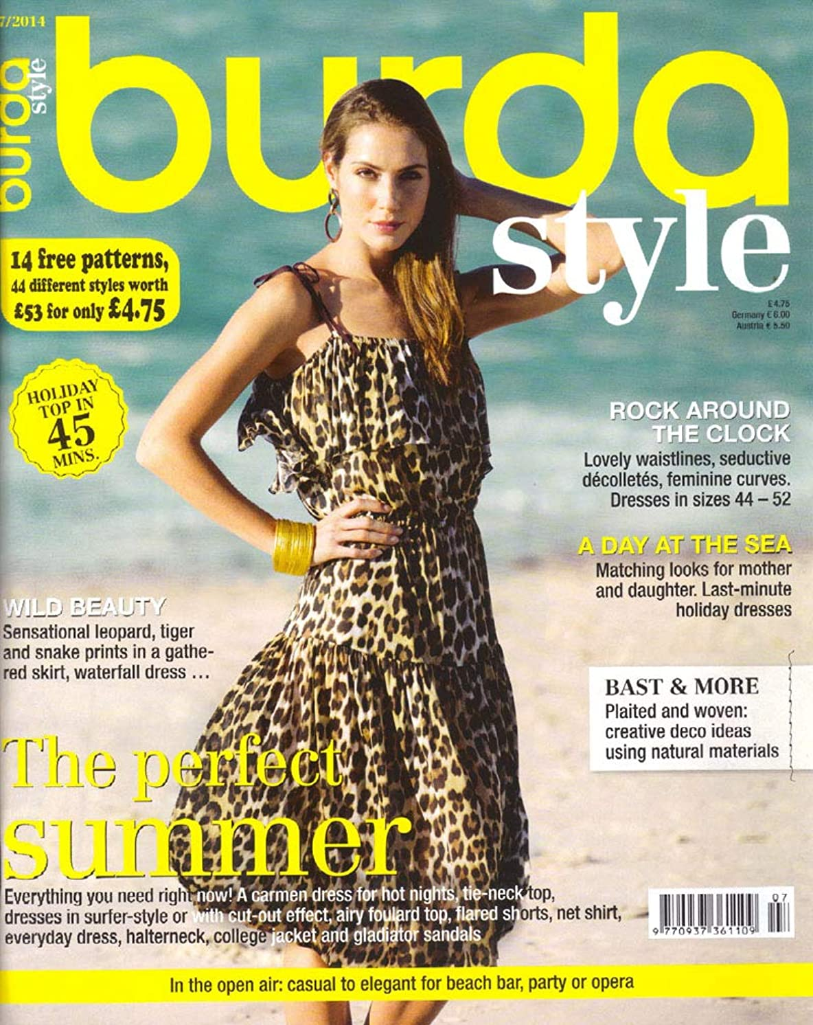 Burda Style Magazine 2014 Sewing Patterns Choose Your Month (July 2014)