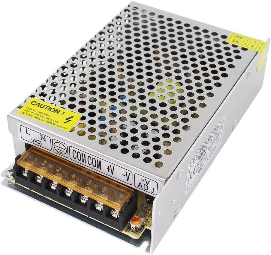 Aiposen 110V/220V AC to DC 5V 10A 50W Switch Power Supply Driver,Power Transformer for CCTV Camera/Security System/LED Strip Light/Radio/Computer Project(5V 10A)