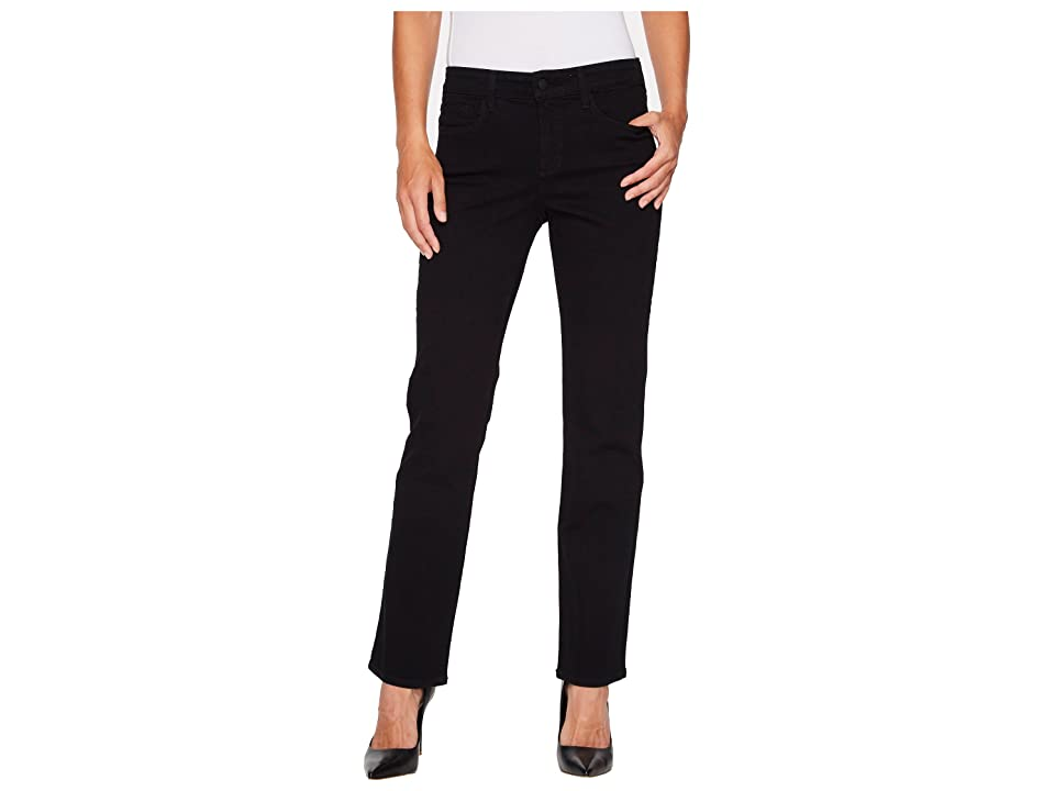 NYDJ Marilyn Straight - Short Inseam in Black (Black) Women's Jeans