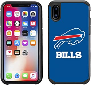 Prime Brands Group Cell Phone Case for Apple iPhone X - NFL Licensed Buffalo Bills Textured Solid Color