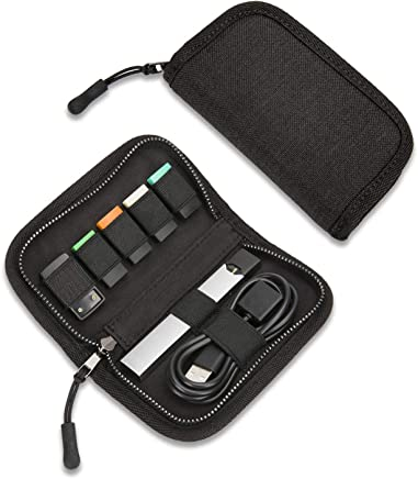 Carrying Case Compatible with JUUL, SummerPlus Travel Storage case for Your Pocket or Bag (Device not Included) (Black)
